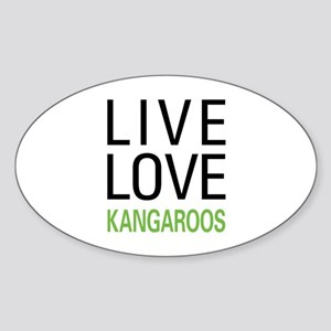 Live Love Kangaroos Sticker (Oval)