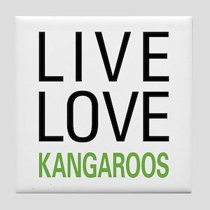 Live Love Kangaroos Tile Coaster