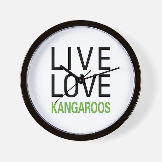 Live Love Kangaroos Wall Clock