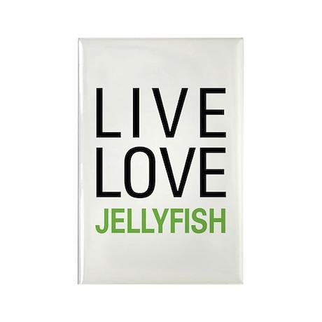 Live Love Jellyfish Rectangle Magnet