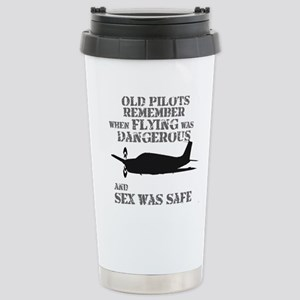 Old Pilots Style B Stainless Steel Travel Mug