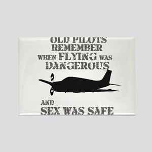 Old Pilots Style B Rectangle Magnet (10 pack)