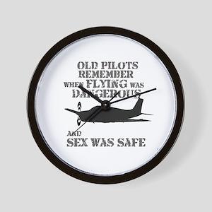 Old Pilots Style B Wall Clock