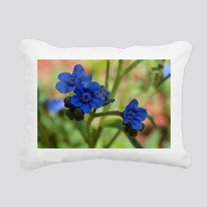 Chinese Forget Me Nots Rectangular Canvas Pillow