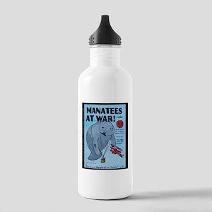 Manatees At War Comics Stainless Water Bottle 1.0L
