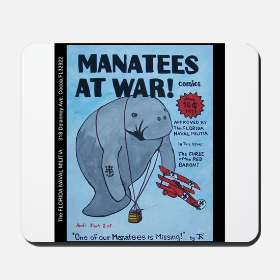Manatees At War Comics Mousepad