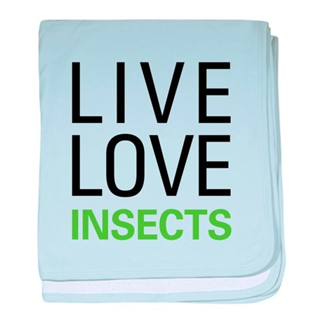 Live Love Insects baby blanket