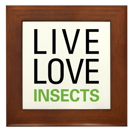 Live Love Insects Framed Tile