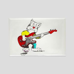 Catoons™ Bass Guitar Cat Rectangle Magnet