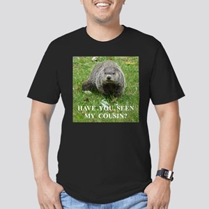 Cousin of Famous Groundhog Men's Fitted T-Shirt (d