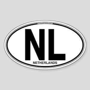 Netherlands Euro Oval (plain) Sticker (Oval)