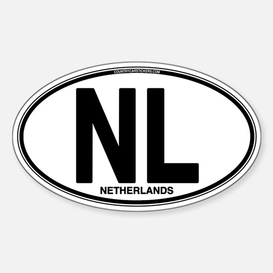 Netherlands Euro Oval (plain) Sticker (Oval)