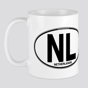 Netherlands Euro Oval (plain) Mug