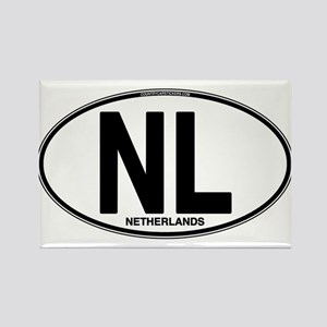 Netherlands Euro Oval (plain) Rectangle Magnet