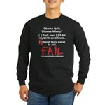 Obama Quiz Long Sleeve Dark T-Shirt