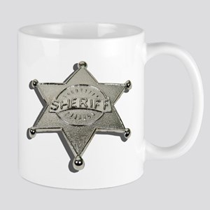 Sheriff Badge Letters Mug