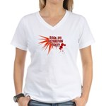 Black Eye Distribution Women's V-Neck T-Shirt