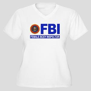 FBI Female Body Inspector Women's Plus Size V-Neck