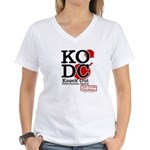 KO Distribution boxing Women's V-Neck T-Shirt
