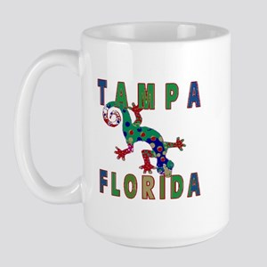 Tampa Florida Lizard Large Mug