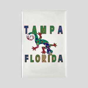 Tampa Florida Lizard Rectangle Magnet (10 pack)