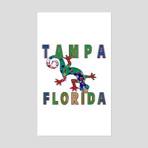 Tampa Florida Lizard Rectangle Sticker