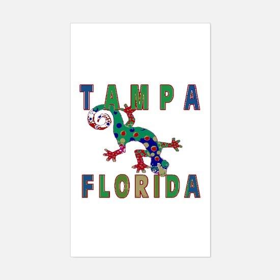 Tampa Florida Lizard Rectangle Decal