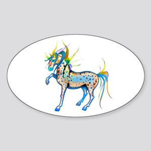 Horses of Color Oval Sticker