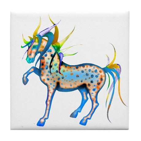 Horses of Color Tile Coaster