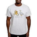 Ash Grey Monkey and Goose T-Shirt