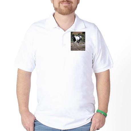 Horse/Pinto Black & White Golf Shirt