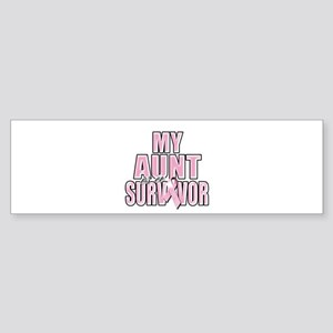 My Aunt is a Survivor Sticker (Bumper)