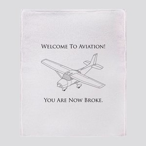 Welcome To Aviation! Throw Blanket