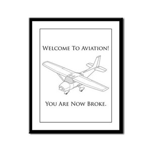 Welcome To Aviation! Framed Panel Print