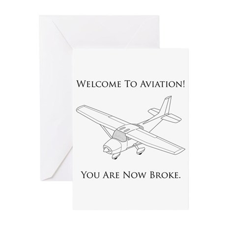 Welcome To Aviation! Greeting Cards (Pk of 20)