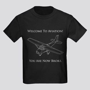 Welcome To Aviation! Kids Dark T-Shirt