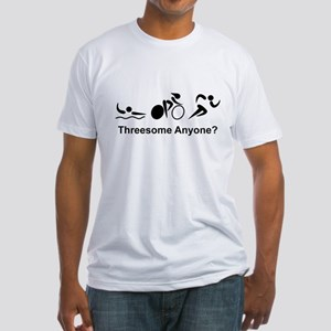 Threesome Anyone? Fitted T-Shirt