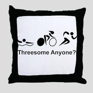 Threesome Anyone? Throw Pillow