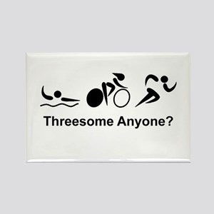 Threesome Anyone? Rectangle Magnet