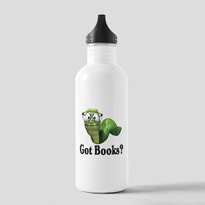 Got Books? Stainless Water Bottle 1.0L