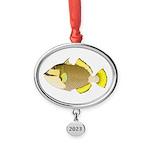 Titan triggerfish Oval Year Ornament