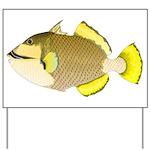 Titan triggerfish Yard Sign
