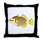 Titan triggerfish Throw Pillow