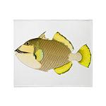 Titan triggerfish Plush Fleece Throw Blanket