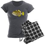 Titan triggerfish Women's Charcoal Pajamas