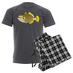 Titan triggerfish Men's Charcoal Pajamas