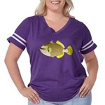 Titan triggerfish Women's Plus Size Football T-Shi