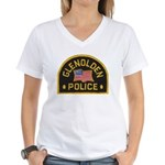 Glenolden Police Women's V-Neck T-Shirt