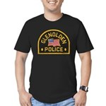 Glenolden Police Men's Fitted T-Shirt (dark)