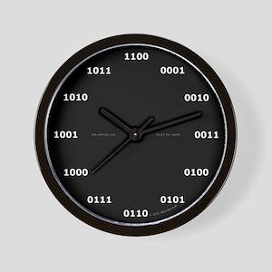 Binary clock - black Wall Clock